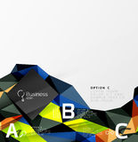 3d polygonal object triangles, abstract background Royalty Free Stock Image