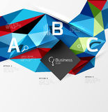 3d polygonal object triangles, abstract background Stock Images