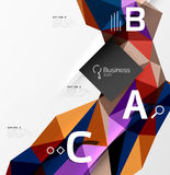 3d polygonal object triangles, abstract background. Vector template background for workflow layout, diagram, number options or web design royalty free illustration