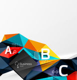 3d polygonal object triangles, abstract background. Vector template background for workflow layout, diagram, number options or web design Royalty Free Stock Image