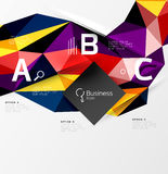 3d polygonal object triangles, abstract background. Vector template background for workflow layout, diagram, number options or web design Royalty Free Stock Photo