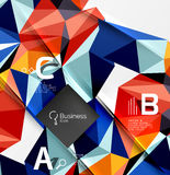 3d polygonal object triangles, abstract background. Vector template background for workflow layout, diagram, number options or web design Stock Photo