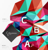 3d polygonal object triangles, abstract background Stock Image
