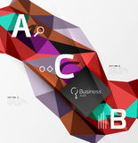3d polygonal object triangles, abstract background Stock Photo