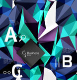 3d polygonal object triangles, abstract background Royalty Free Stock Images