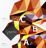 3d polygonal object triangles, abstract background Royalty Free Stock Photography