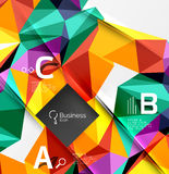 3d polygonal object triangles, abstract background Stock Photos