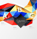 3d polygonal object triangles, abstract background Royalty Free Stock Photos