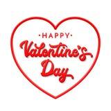 3d pone letras a día de tarjetas del día de San Valentín feliz Imagenes de archivo