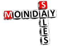 3D Poniedziałek sprzedaży Crossword Zdjęcie Royalty Free
