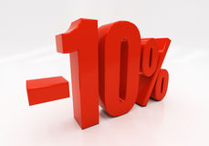 3D 10 por cento Imagem de Stock Royalty Free