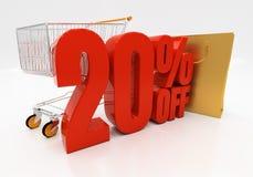 3D 20 por cento Fotos de Stock