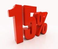 3D 15 por cento Fotografia de Stock