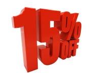 3D 15 por cento Fotos de Stock