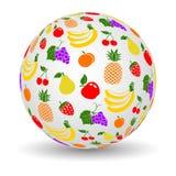 3d porte des fruits globe illustration stock