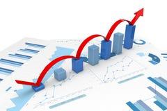 3d positieve Grafieken Stock Afbeelding