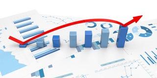 3d positieve Grafieken Stock Fotografie