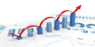 3d positieve Grafieken Royalty-vrije Stock Foto