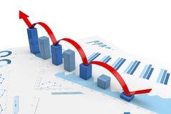 3d positieve Grafieken Stock Afbeeldingen