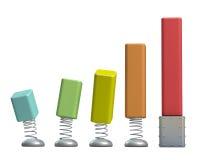 3d positieve Grafieken Stock Foto
