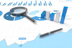 3d positive bar Graphs. Of financial analysis Royalty Free Stock Photo