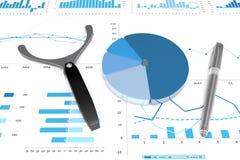 3d positive bar Graphs. Of financial analysis Stock Photo