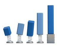 3d positive bar Graphs. Of financial analysis Royalty Free Stock Photos