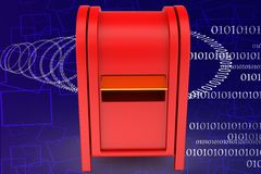 3d post box illustration Stock Images