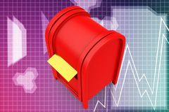 3d post box illustration Royalty Free Stock Photo