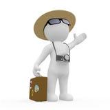 3D postać na wakacje Zdjęcia Stock
