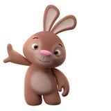 3D postać z kreskówki, Easter królik royalty ilustracja