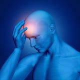 3D postaci mienia męska głowa Zdjęcie Stock
