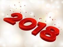 2018 3D postaci w isometric 2018 geometrii liczby Nowego roku znak dla kartka z pozdrowieniami lub plakata również zwrócić corel  Fotografia Stock