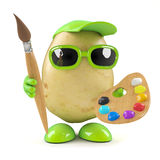 3d Potato artist Stock Photos