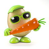 3d Potato and carrot Royalty Free Stock Photo