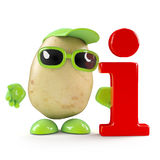 3d Potato information Royalty Free Stock Images