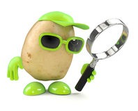 3d Potato magnifier Stock Photos