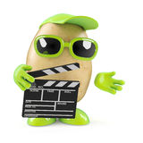 3d Potato makes a movie Royalty Free Stock Photography