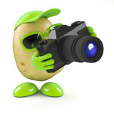 3d Potato photographer Royalty Free Stock Photography