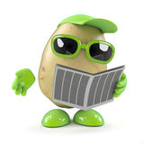 3d Potato reads the newspaper Royalty Free Stock Images