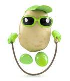 3d Potato skipping Stock Photo