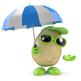 3d Potato in a storm Royalty Free Stock Photography