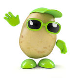 3d Potato waves Royalty Free Stock Image