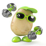 3d Potato works out Stock Image