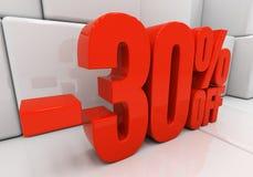 3D 30 pour cent Photo stock