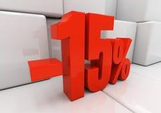 3D 15 pour cent illustration libre de droits