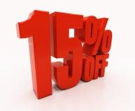 3D 15 pour cent Image stock