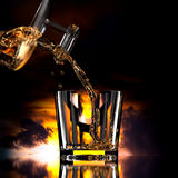 3d pour tipple drink Royalty Free Stock Photography