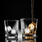3d pour tipple drink Royalty Free Stock Photo