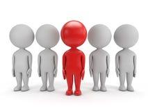 3d povos bonitos - liderança Imagens de Stock Royalty Free